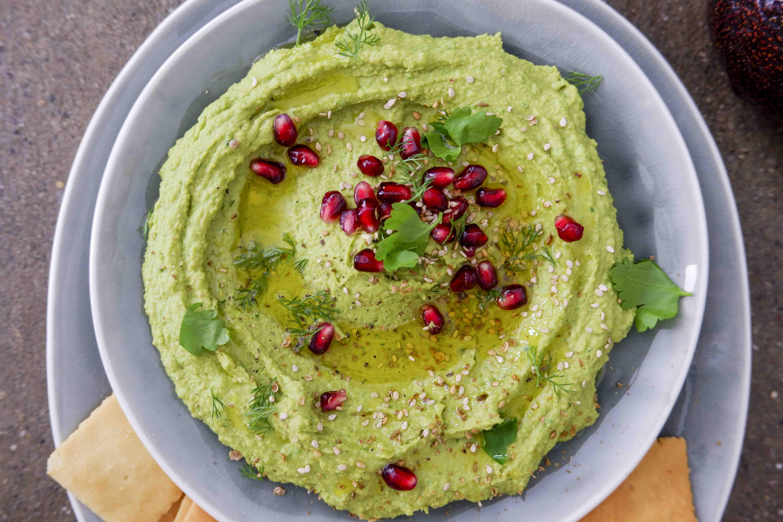 Ricetta Hummus Avocado.Green Hummus Con Avocado E Spinaci Gnambox Com
